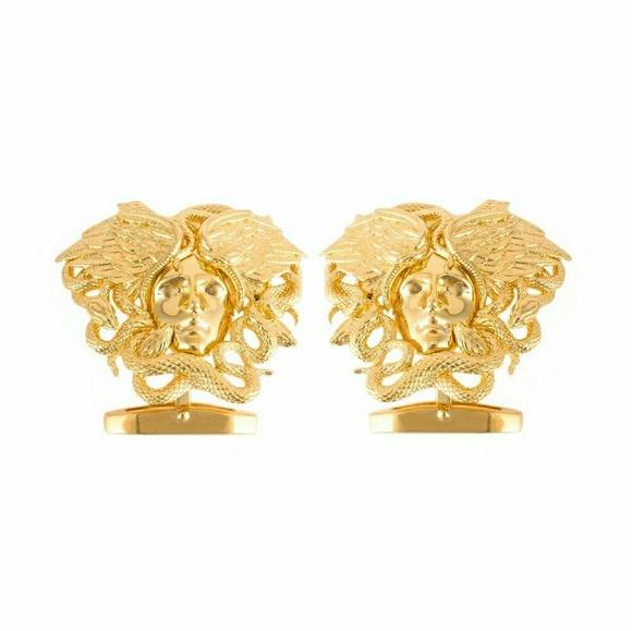 Versace Other - Versace Gold Medusa Snake Cufflinks